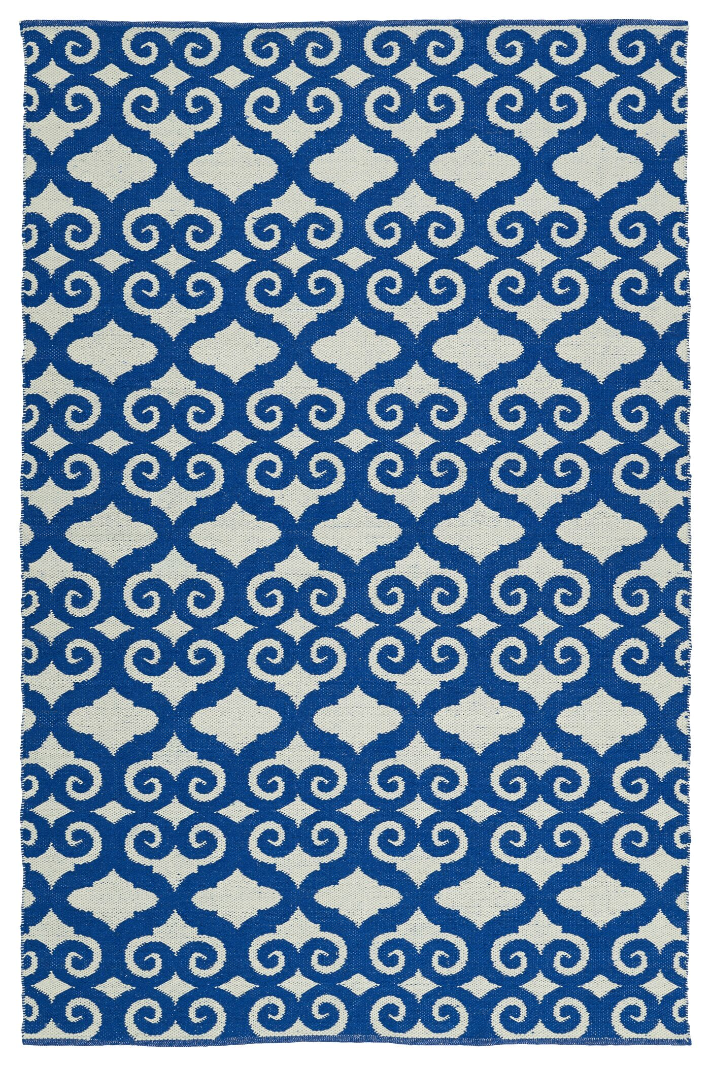 Covington Navy/White Indoor/Outdoor Area Rug Rug Size: Rectangle 8' x 10'