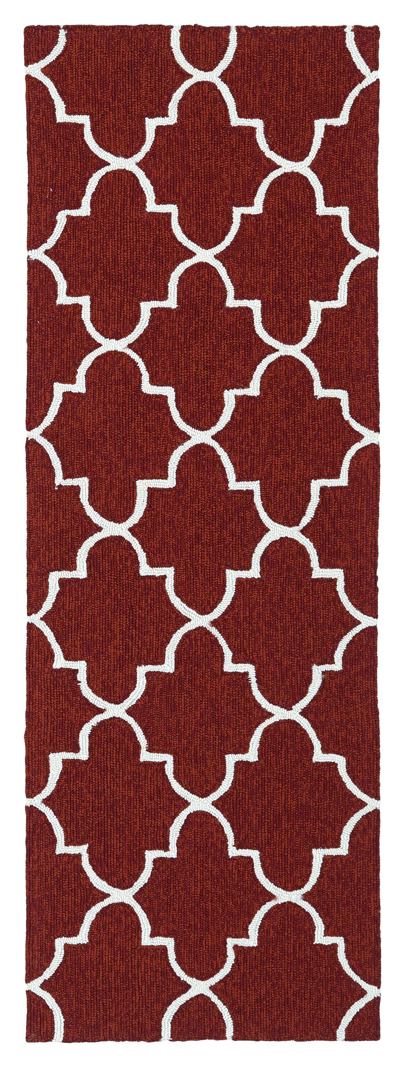 Cowan Hand-Tufted Red Indoor/Outdoor Area Rug Rug Size: Rectangle 8' x 10'