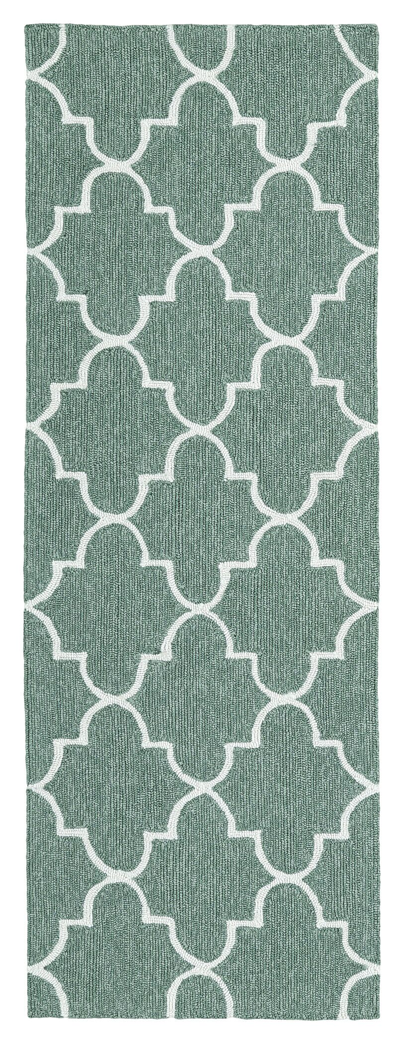 Cowan Hand-Tufted Mint Indoor/Outdoor Area Rug Rug Size: Rectangle 5' x 7'6