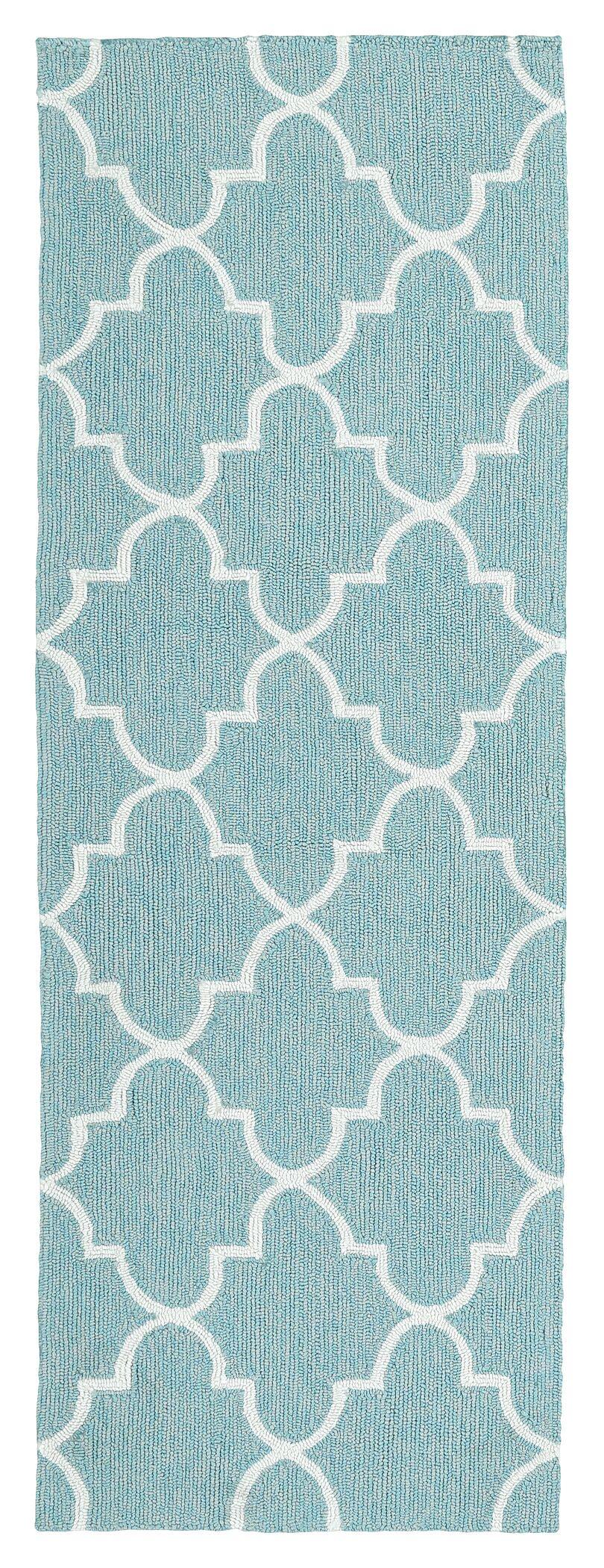 Cowan Blue IndoorOutdoor Area Rug Rug Size: Rectangle 8' x 10'
