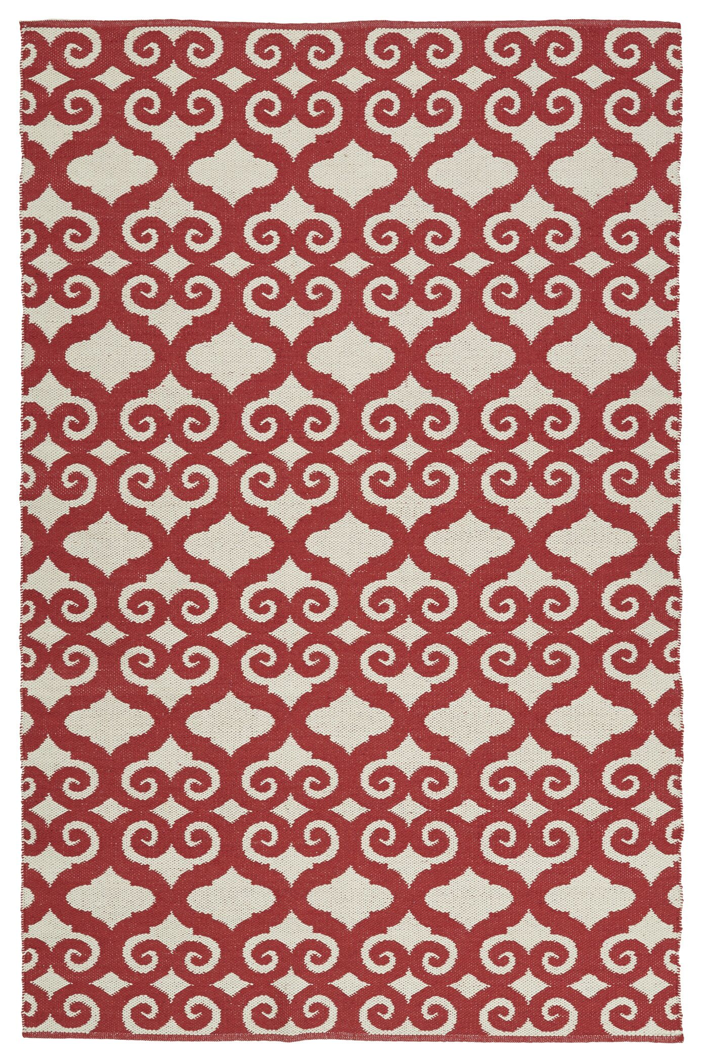 Covington Red/White Indoor/Outdoor Area Rug Rug Size: Rectangle 9' x 12'