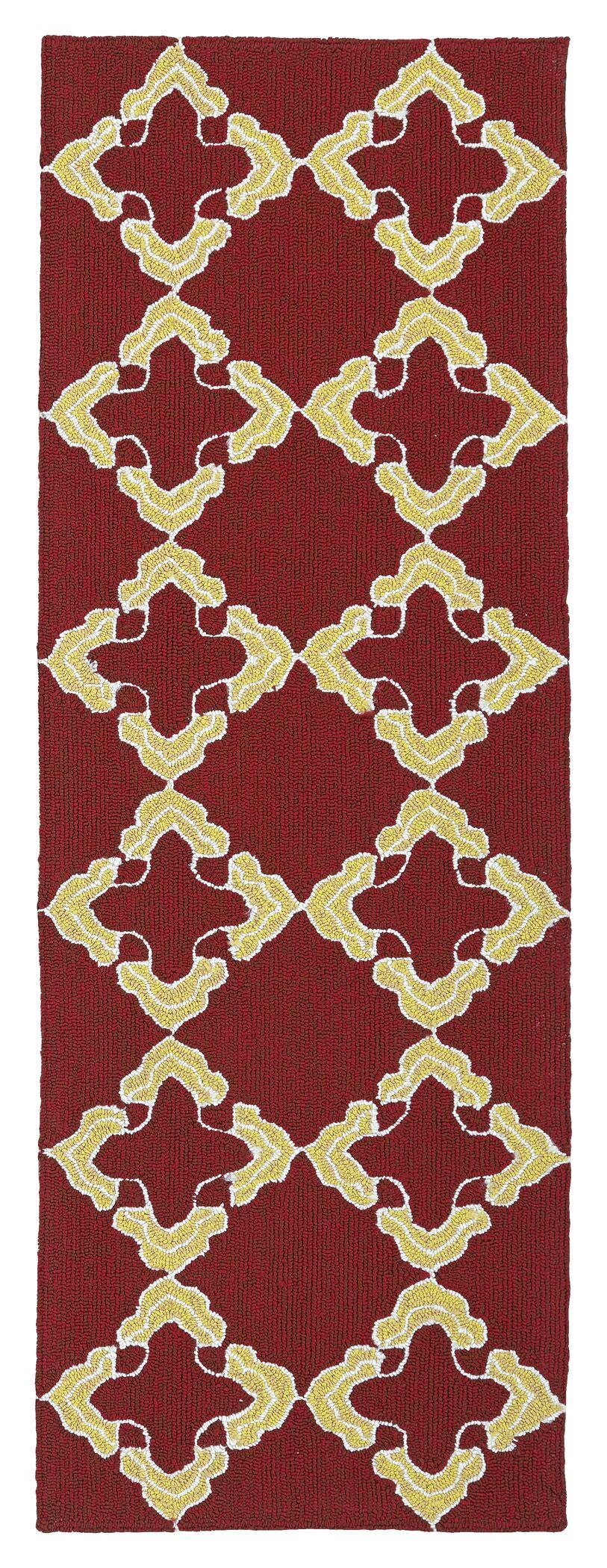Cowan Red/Yellow Indoor/Outdoor Area Rug Rug Size: Rectangle 9' x 12'