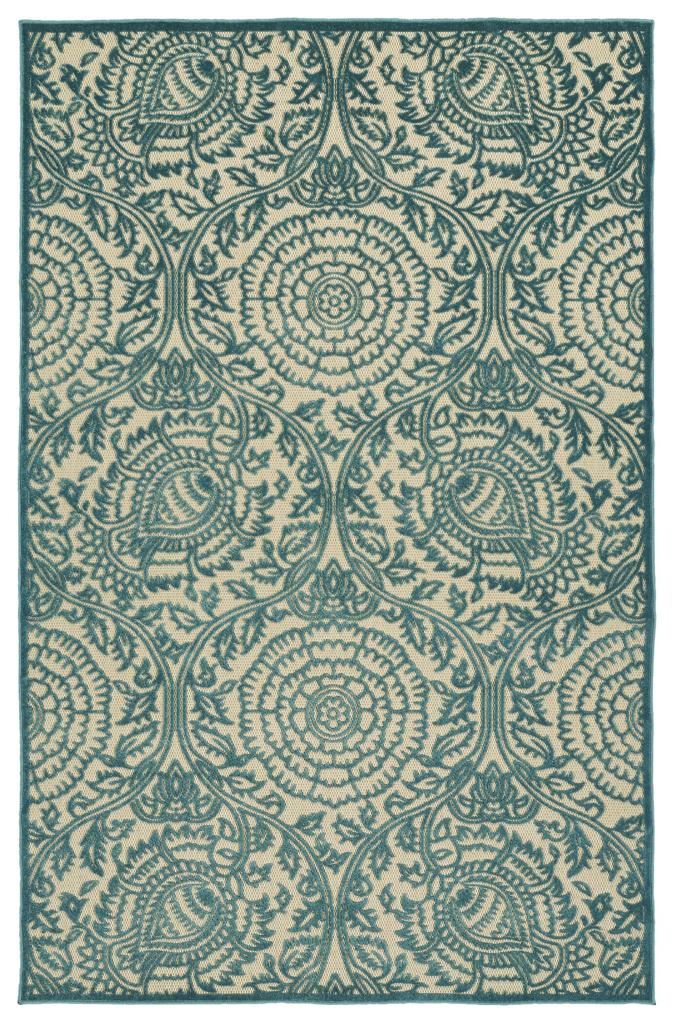 Covedale Machine Woven Blue Indoor/Outdoor Area Rug Rug Size: Rectangle 5' x 7'6