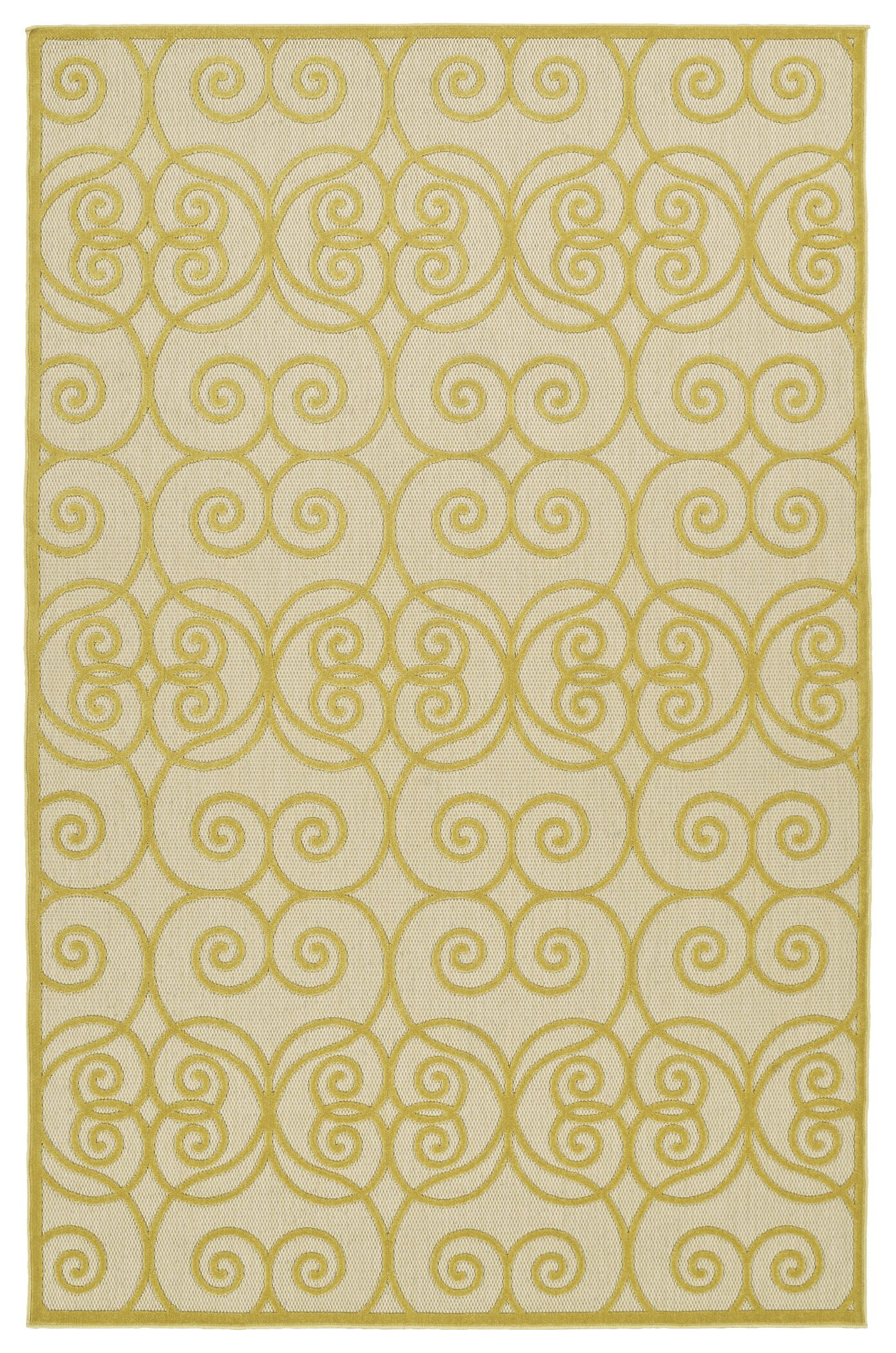 Covedale Gold Indoor/Outdoor Area Rug Rug Size: Rectangle 8'8