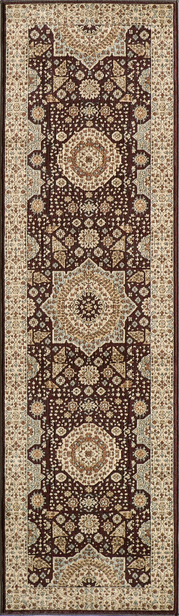 Crescent Brown Area Rug Rug Size: Rectangle 3'11