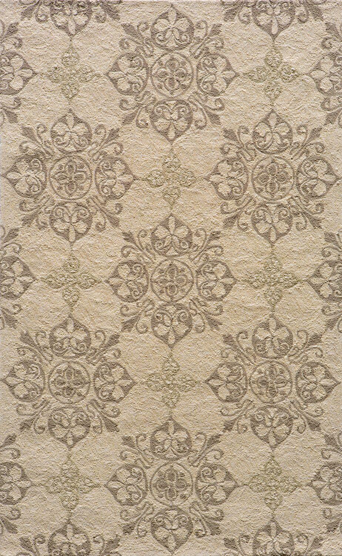 St James Hand-Hooked Beige Area Rug Rug Size: Rectangle 8' x 10'