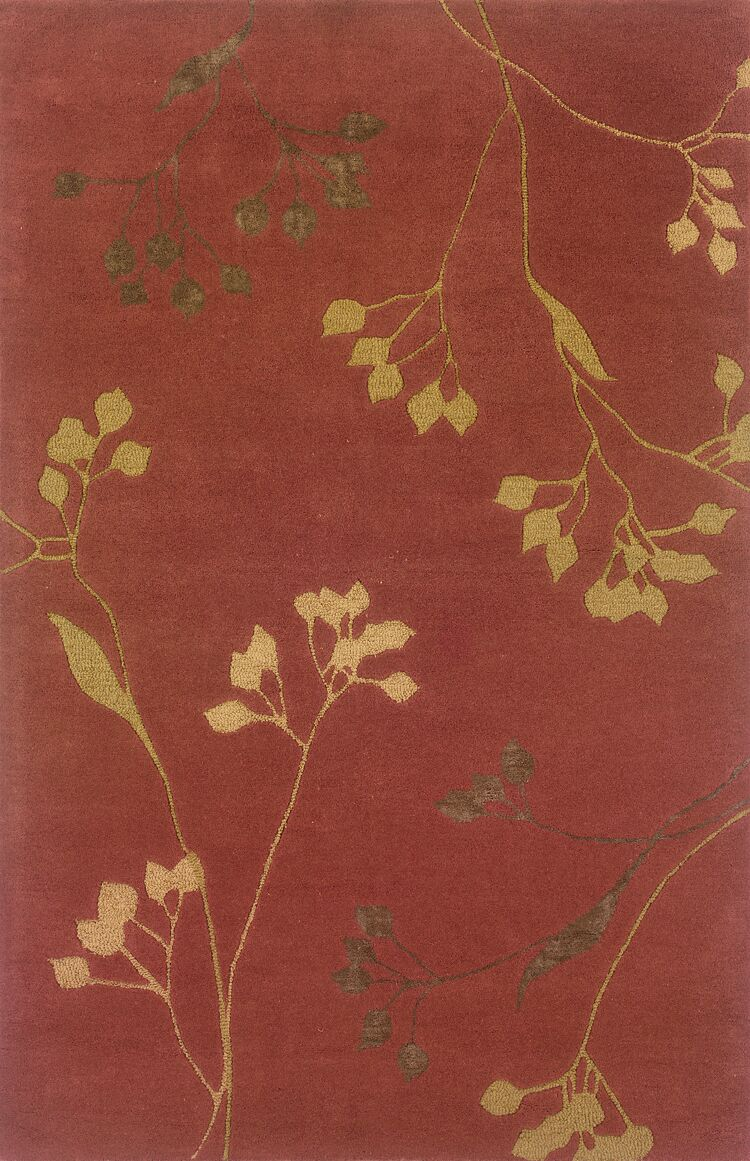 Culpeper Rust/Gold Area Rug Rug Size: Rectangle 3'6