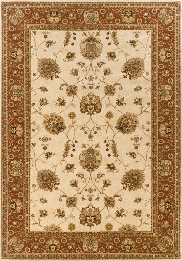 Currahee Ivory/Red Area Rug Rug Size: Rectangle 7'10