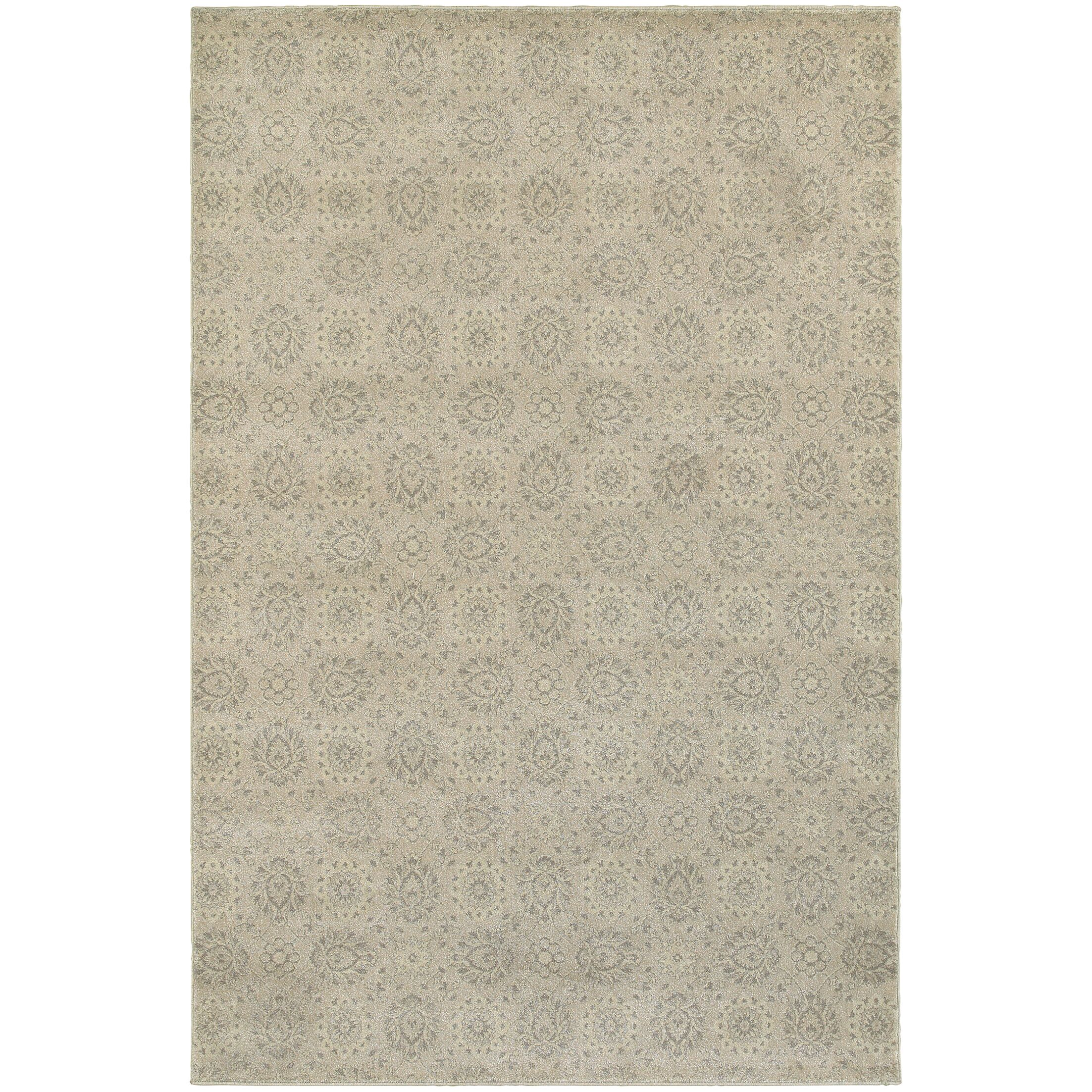 Cynthiana Beige/Ivory Area Rug Rug Size: Rectangle 7'10