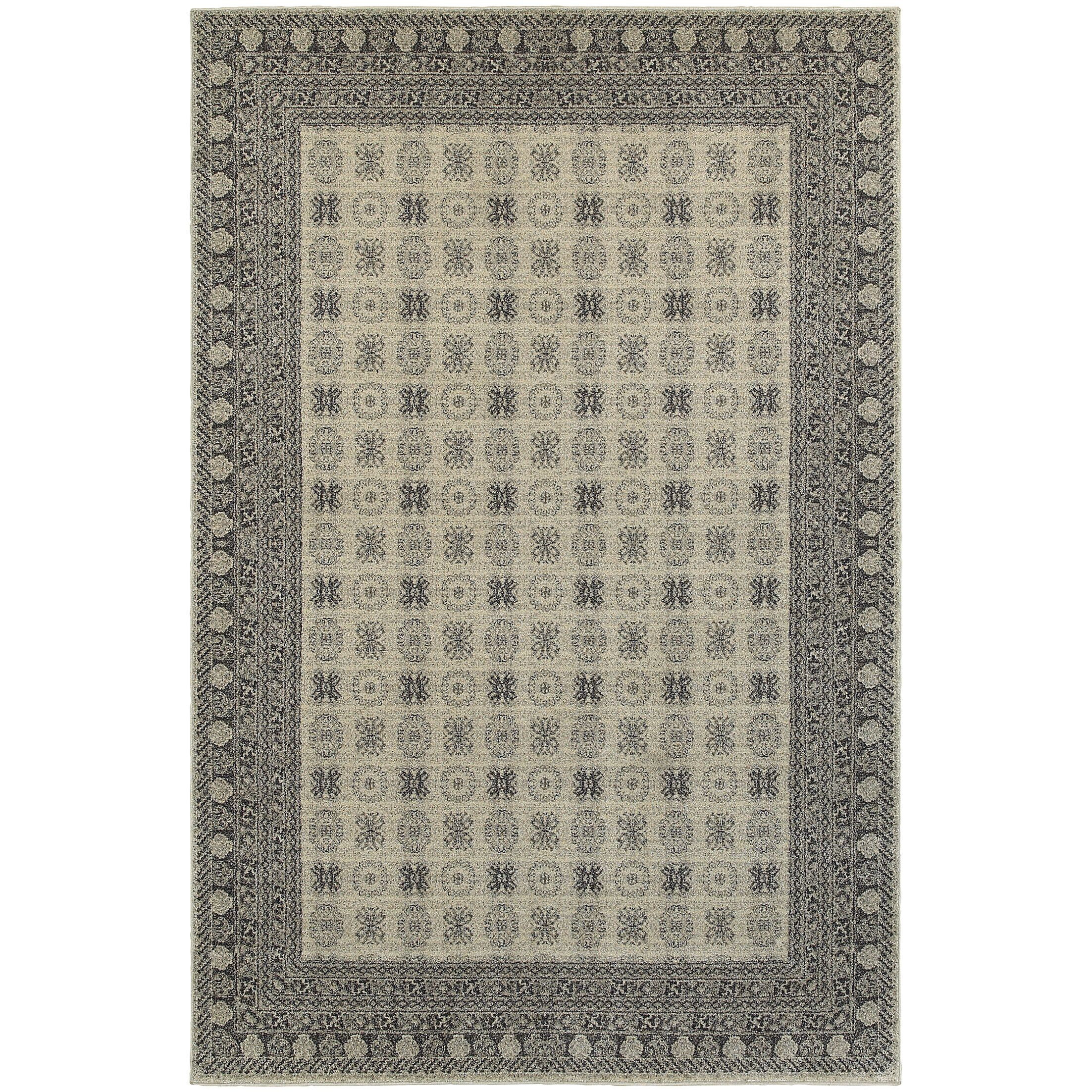 Cynthiana Ivory/Gray Area Rug Rug Size: Runner 2'3