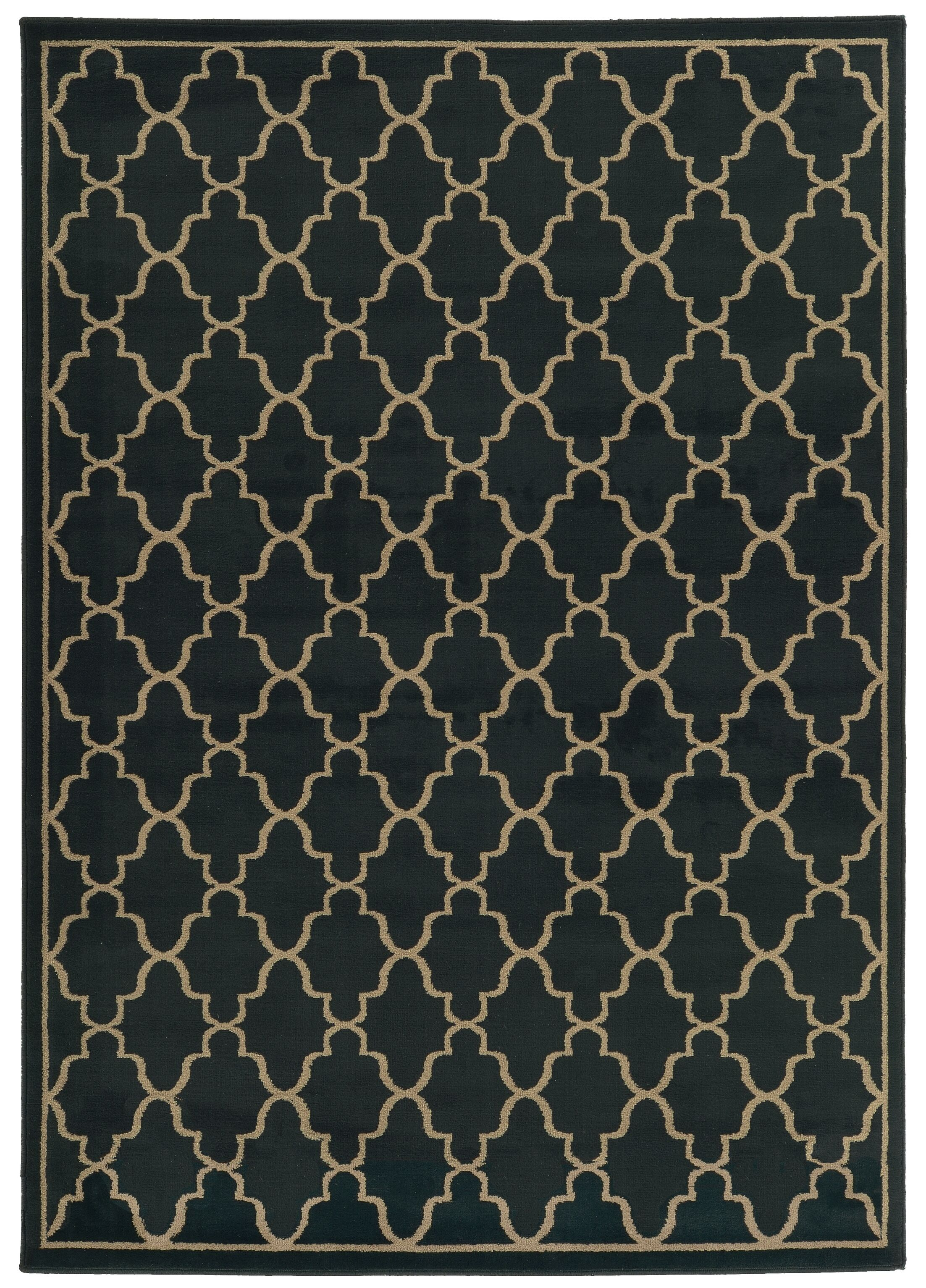 Delshire Lattice Navy/Light Grey Area Rug Rug Size: Rectangle 1'1 x 3'3