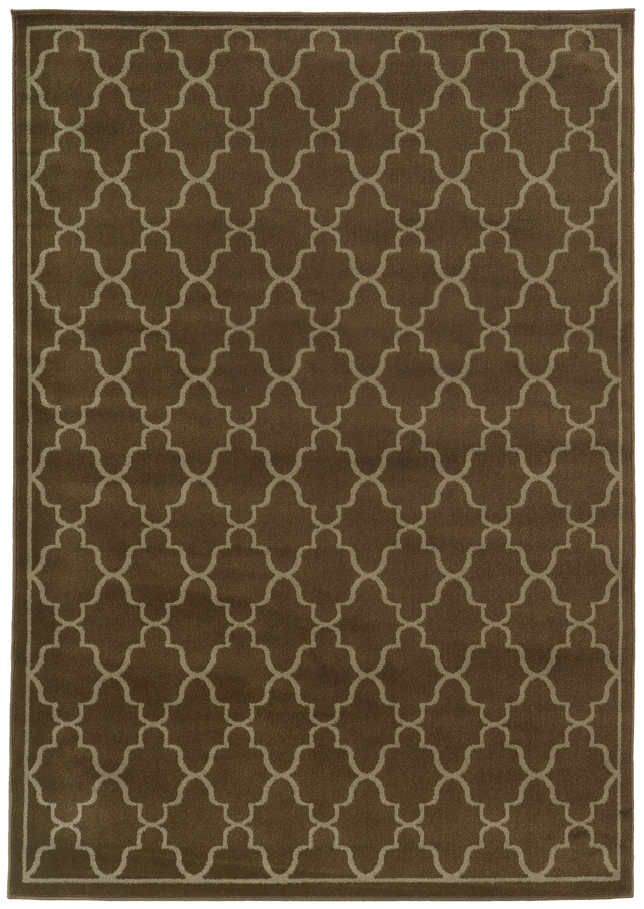 Delshire Lattice Brown/Beige Area Rug Rug Size: Rectangle 6'7