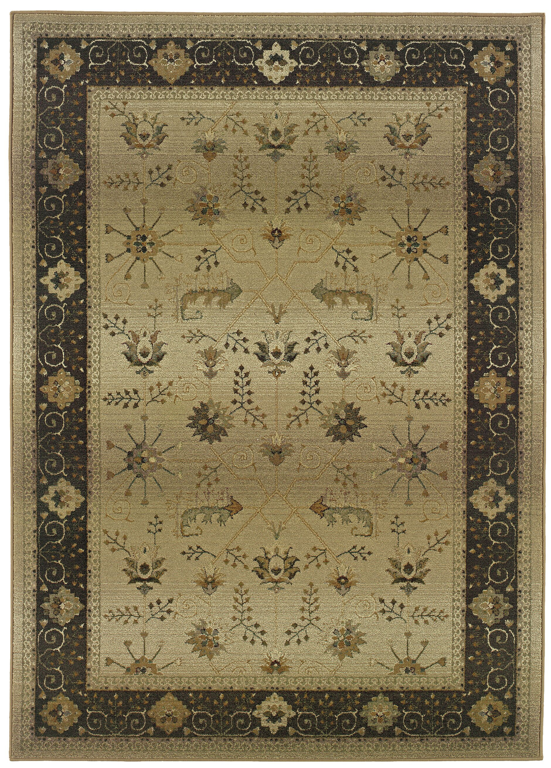 Devon Beige/Brown Oriental Area Rug Rug Size: Rectangle 6'7
