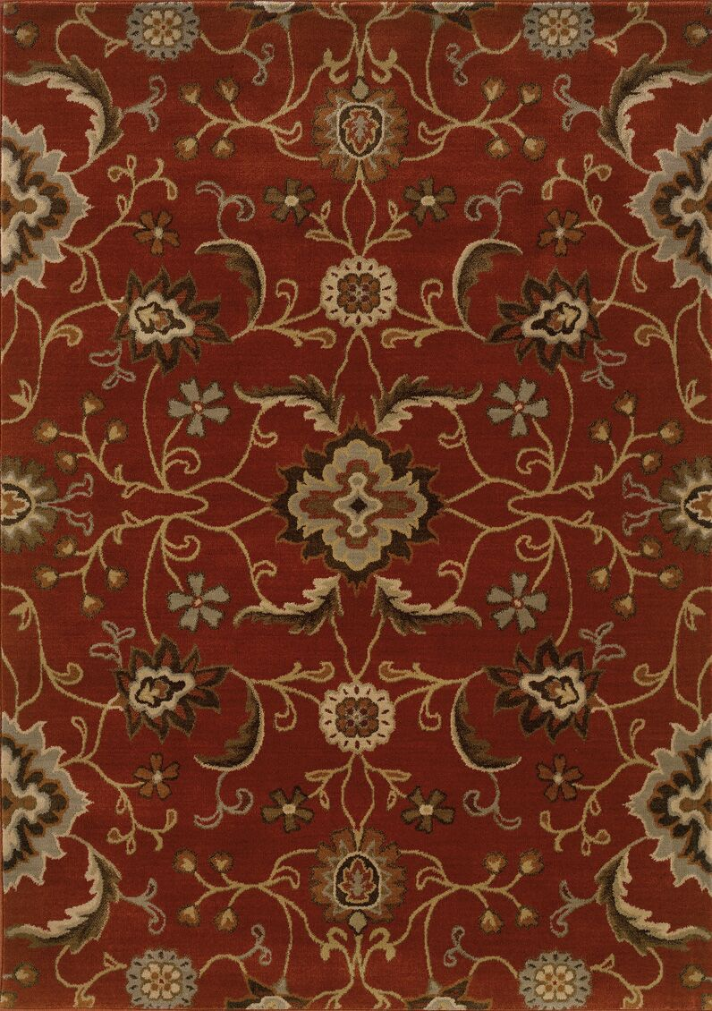 Dewolf Red Area Rug Rug Size: Rectangle 5'3
