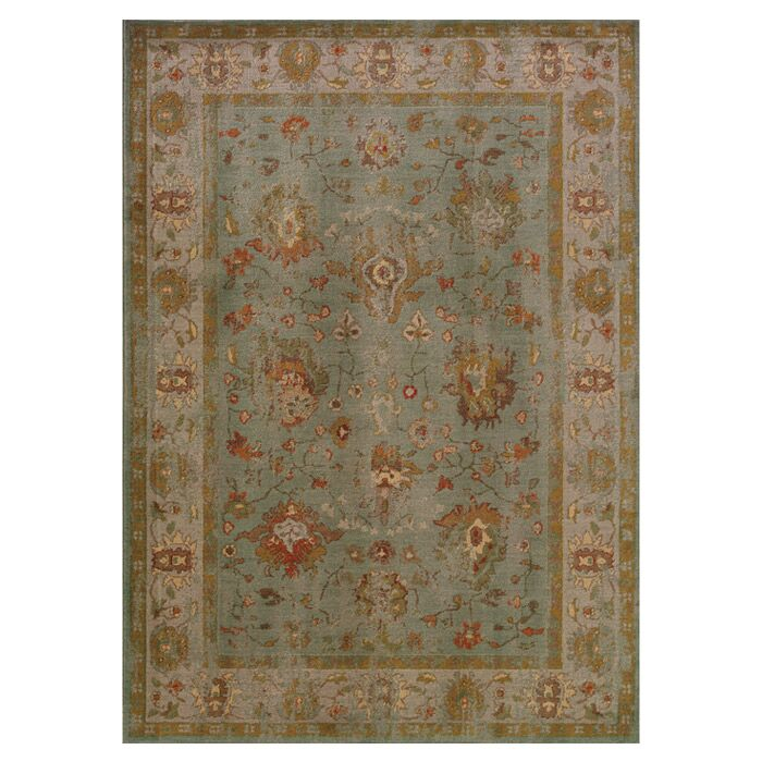 Dewolf Oriental Green Area Rug Rug Size: Rectangle 9'10