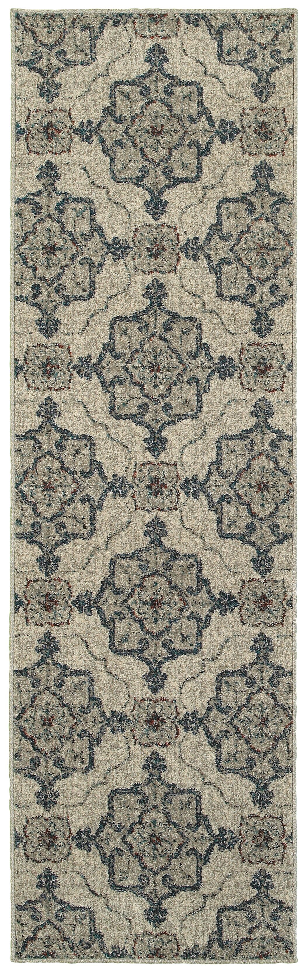 Derby Beige/Gray Area Rug Rug Size: Rectangle 5'3