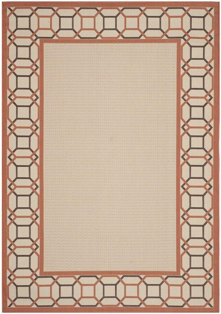 Bundara Beige/Terracotta Area Rug Rug Size: Rectangle 8' x 11'2
