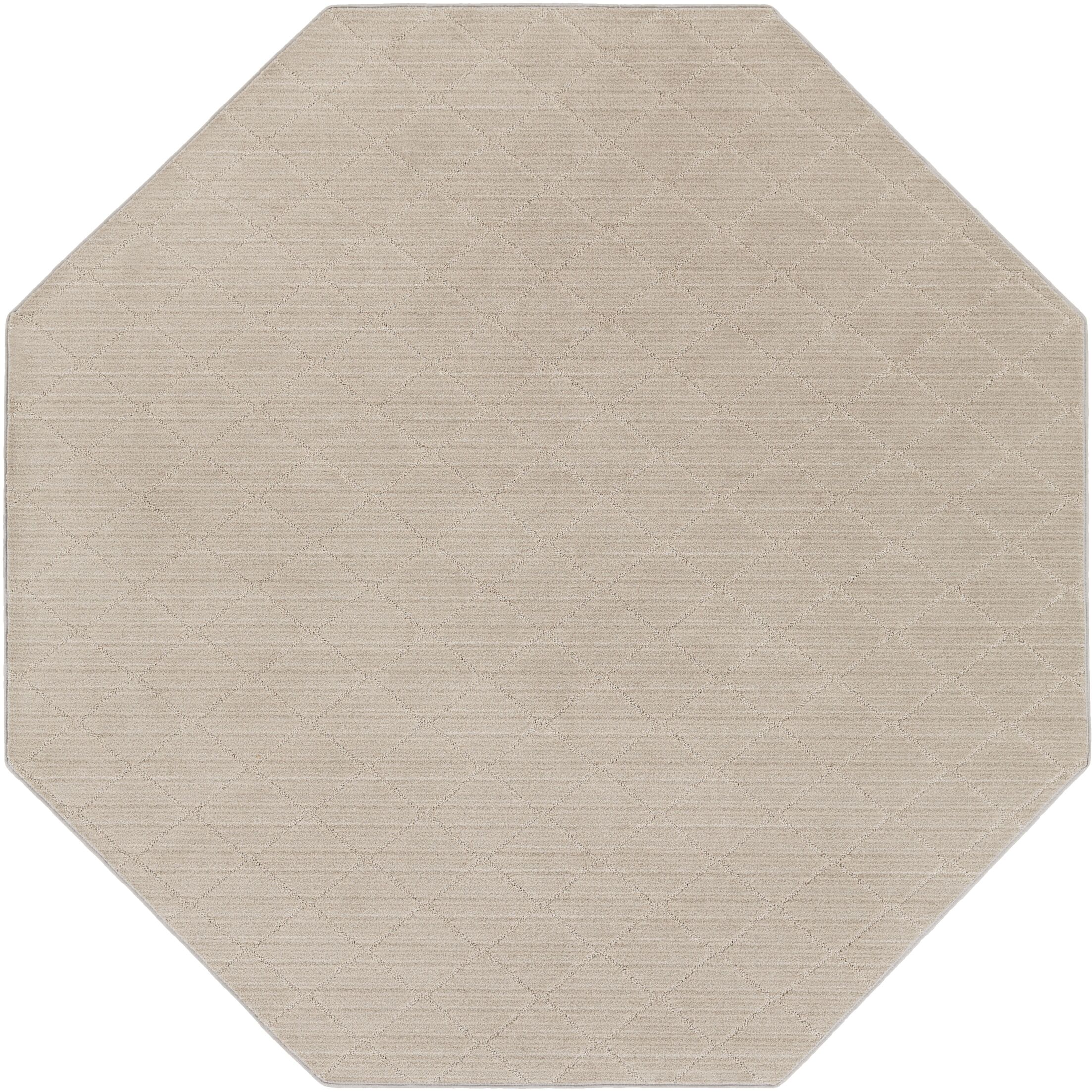 Huxley Gray Area Rug Rug Size: Octagon 4'