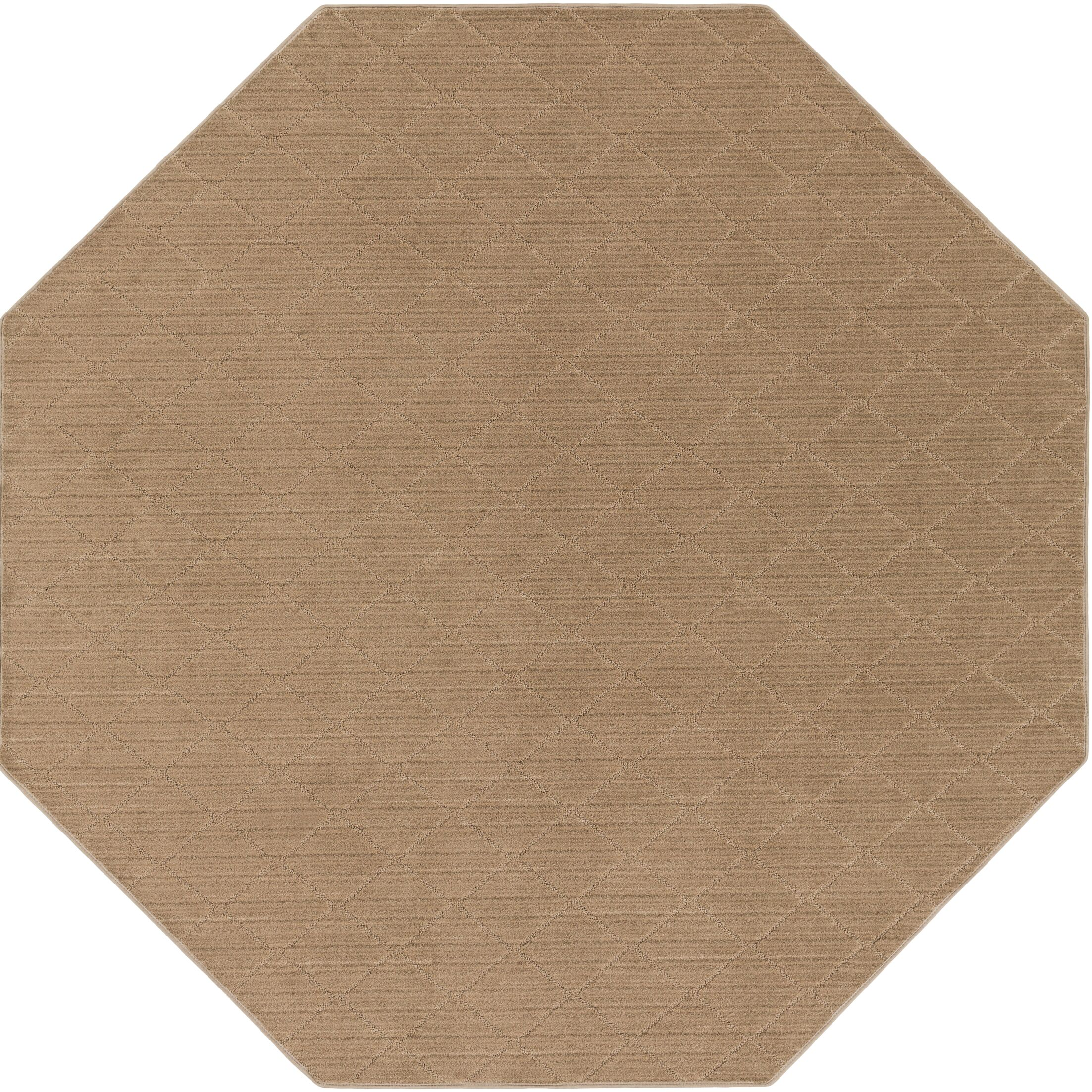 Huxley Beige Area Rug Rug Size: Octagon 6'