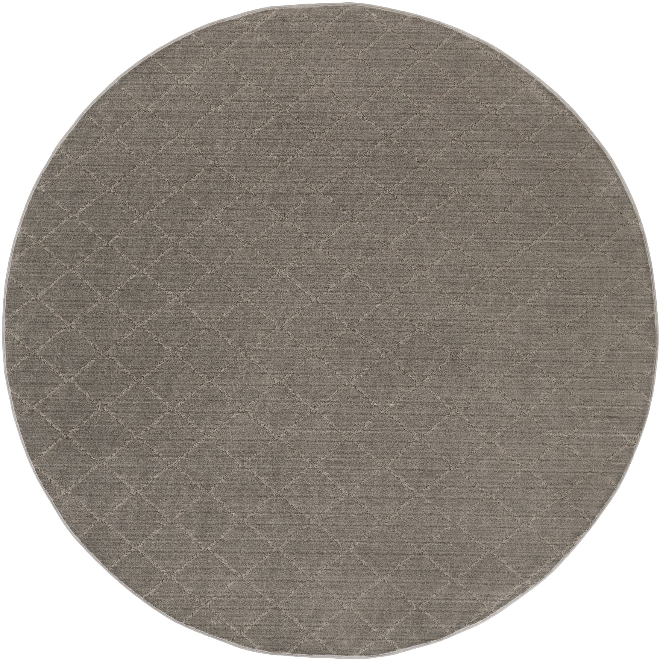 Huxley Gray Area Rug Rug Size: Round 8'