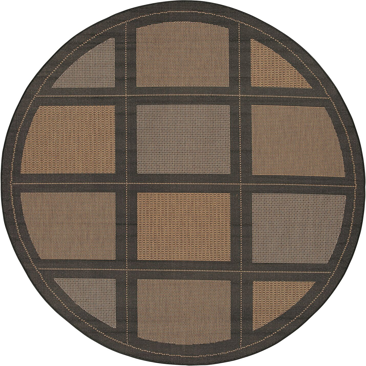Westlund Cocoa Indoor/Outdoor Area Rug Rug Size: Rectangle 5'3