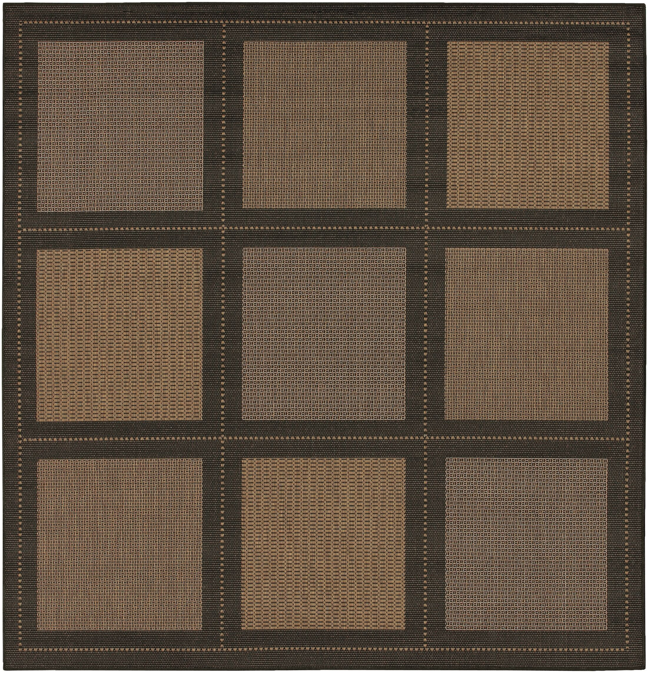 Westlund Cocoa Indoor/Outdoor Area Rug Rug Size: Square 8'6
