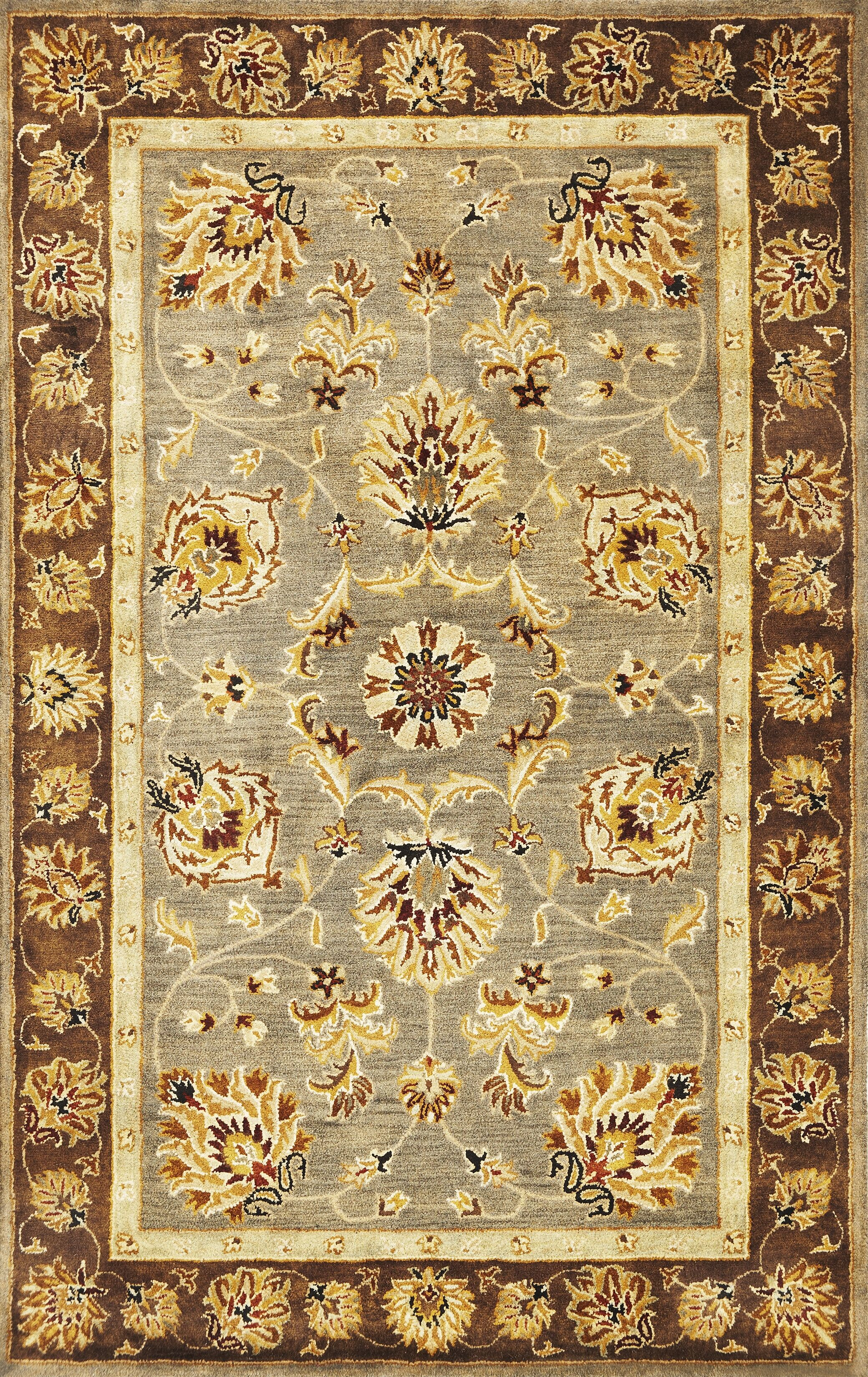 Blarwood Grey/Mocha Mahal Area Rug Rug Size: Rectangle 9' x 13'