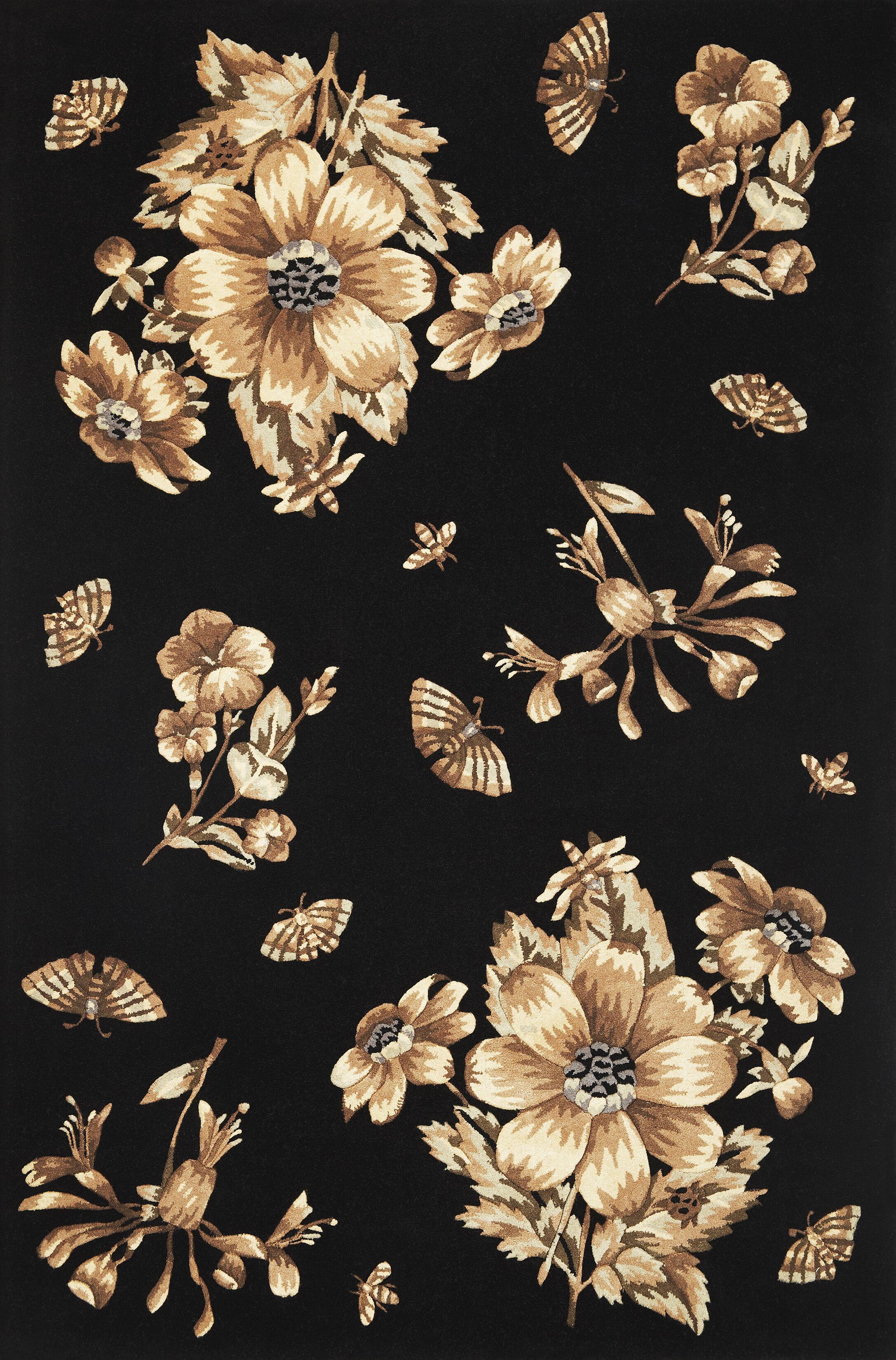Blythewood Elegance Black Area Rug Rug Size: 8' x 10'6