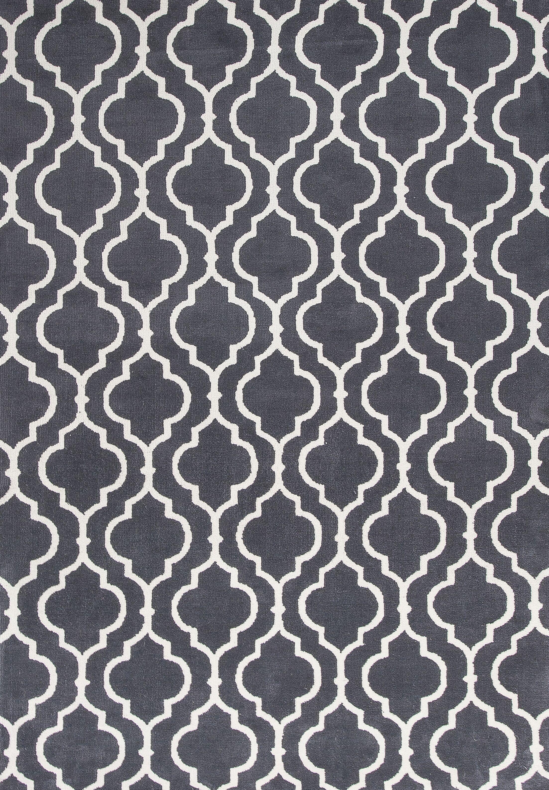 Blythewood Hand Woven Charcoal Area Rug Rug Size: 3'3