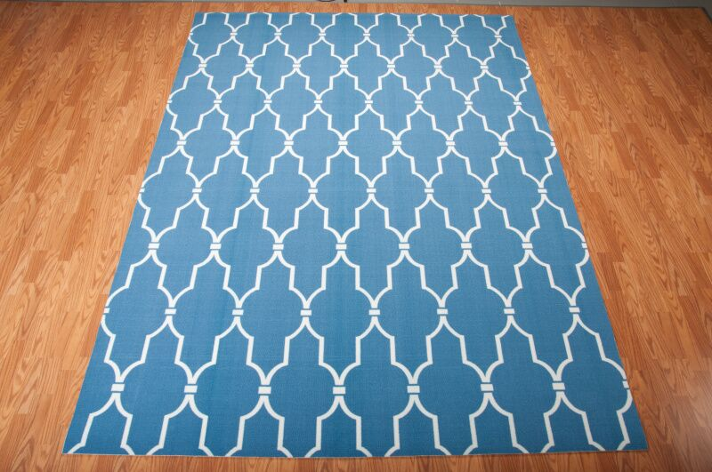 Wright Navy Indoor/Outdoor Area Rug Rug Size: Rectangle 7'9
