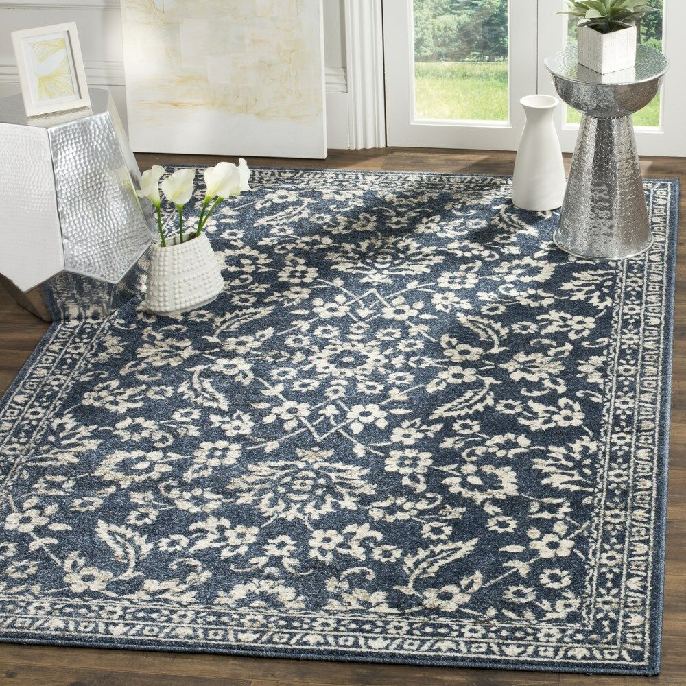 Arthur Blue/Beige Area Rug Rug Size: Rectangle 8' x 10'