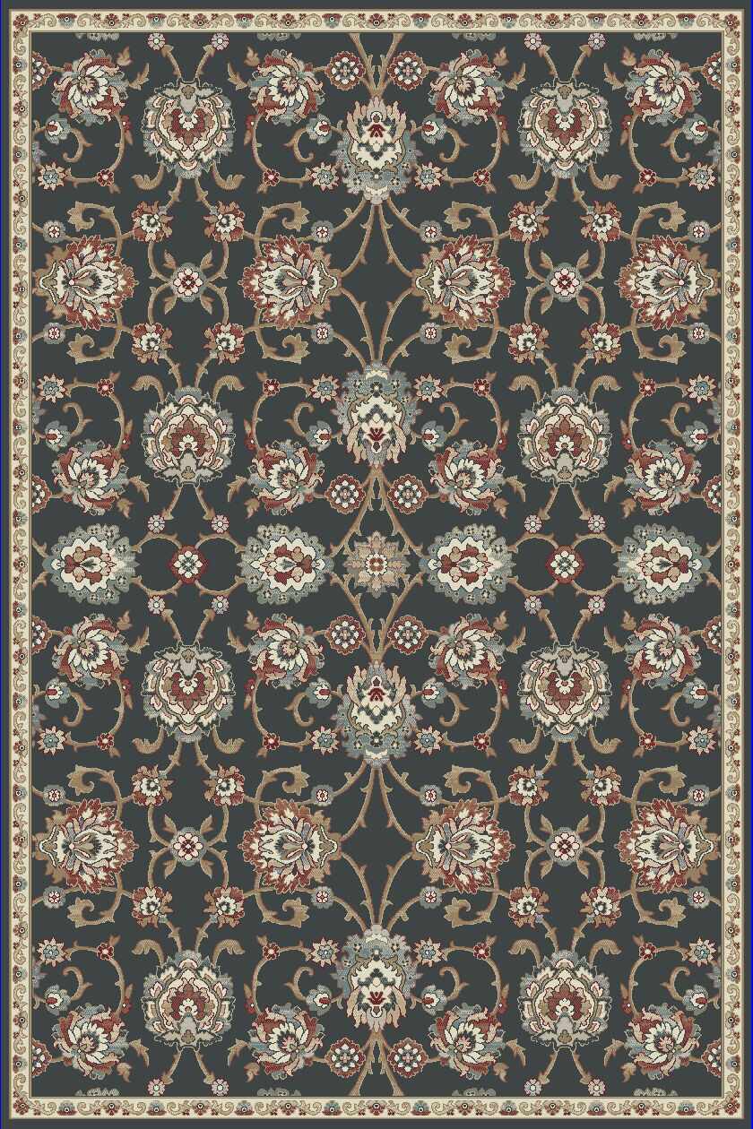 Morocco Anthracite Gray Area Rug Rug Size: Runner 2'2