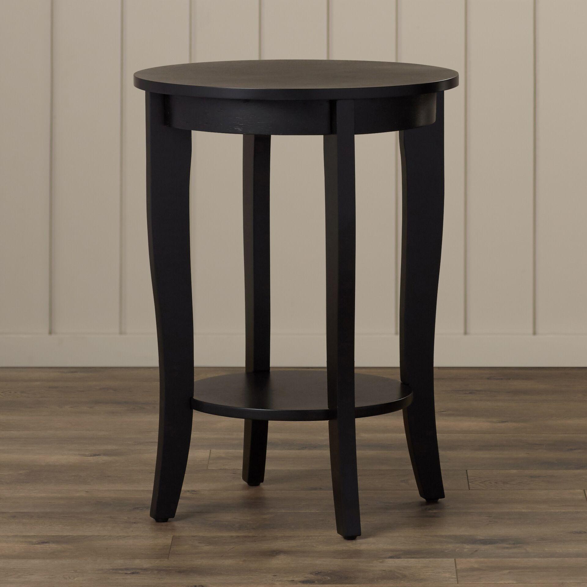 Lucile End Table Table Top Color: Espresso, Table Base Color: Espresso
