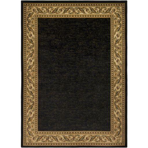 Marvin Black/Khaki Area Rug Rug Size: Rectangle 5'3