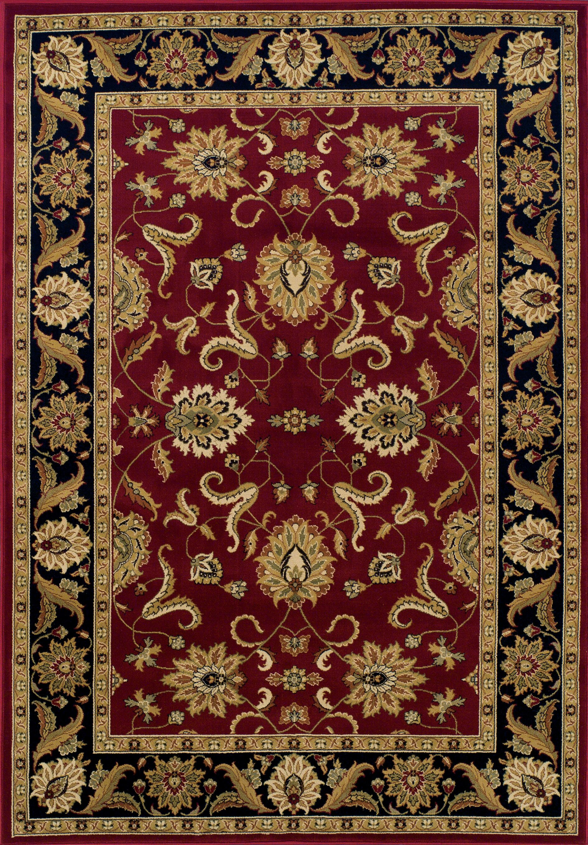 Ardaghmore Red Area Rug Rug Size: Rectangle 5'1