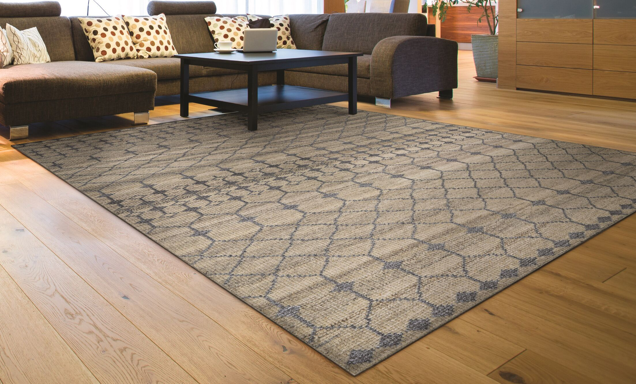 Cargile Hand-Knotted Natural/Gray Area Rug Rug Size: Rectangle 2' x 4'