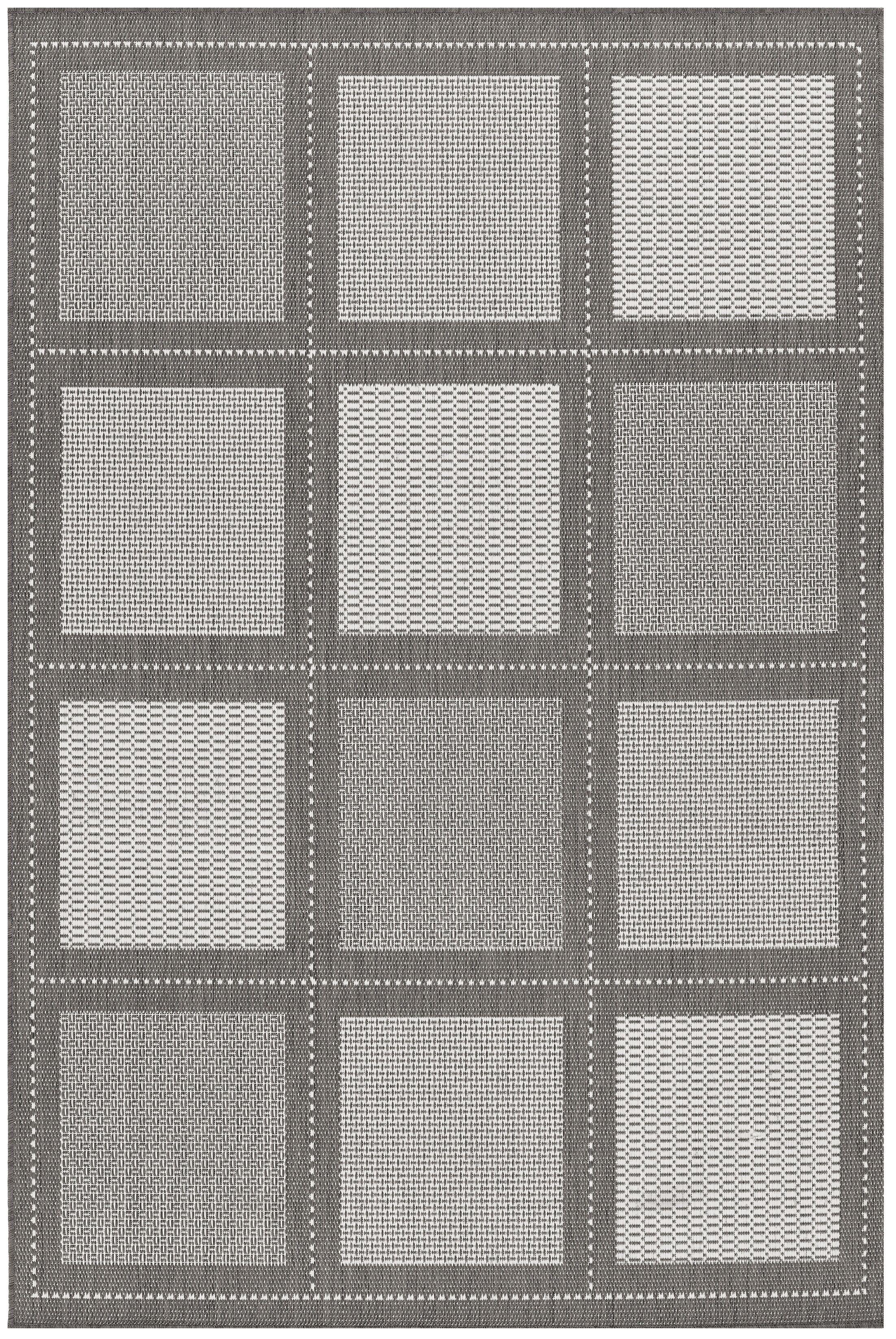 Westlund Gray Indoor/Outdoor Area Rug Rug Size: Rectangle 5'3