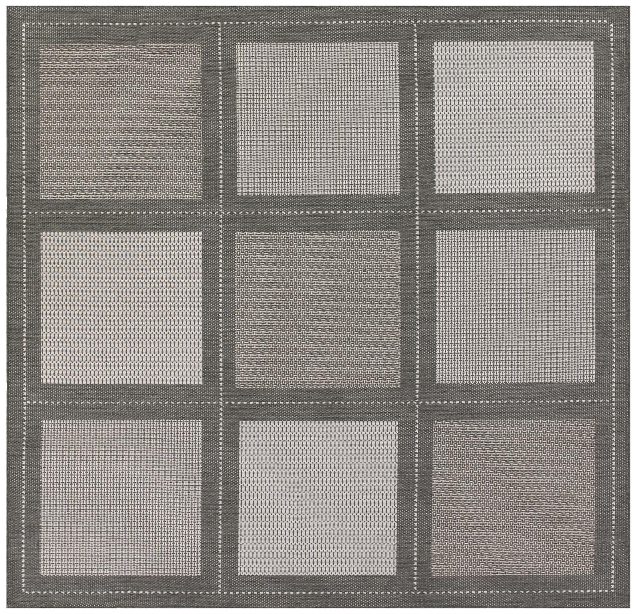 Westlund Gray Indoor/Outdoor Area Rug Rug Size: Square 7'6