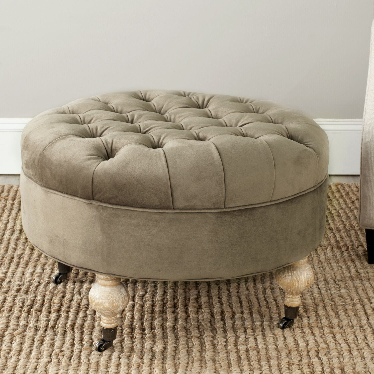 August Cocktail Ottoman Upholstery: Mushroom Taupe