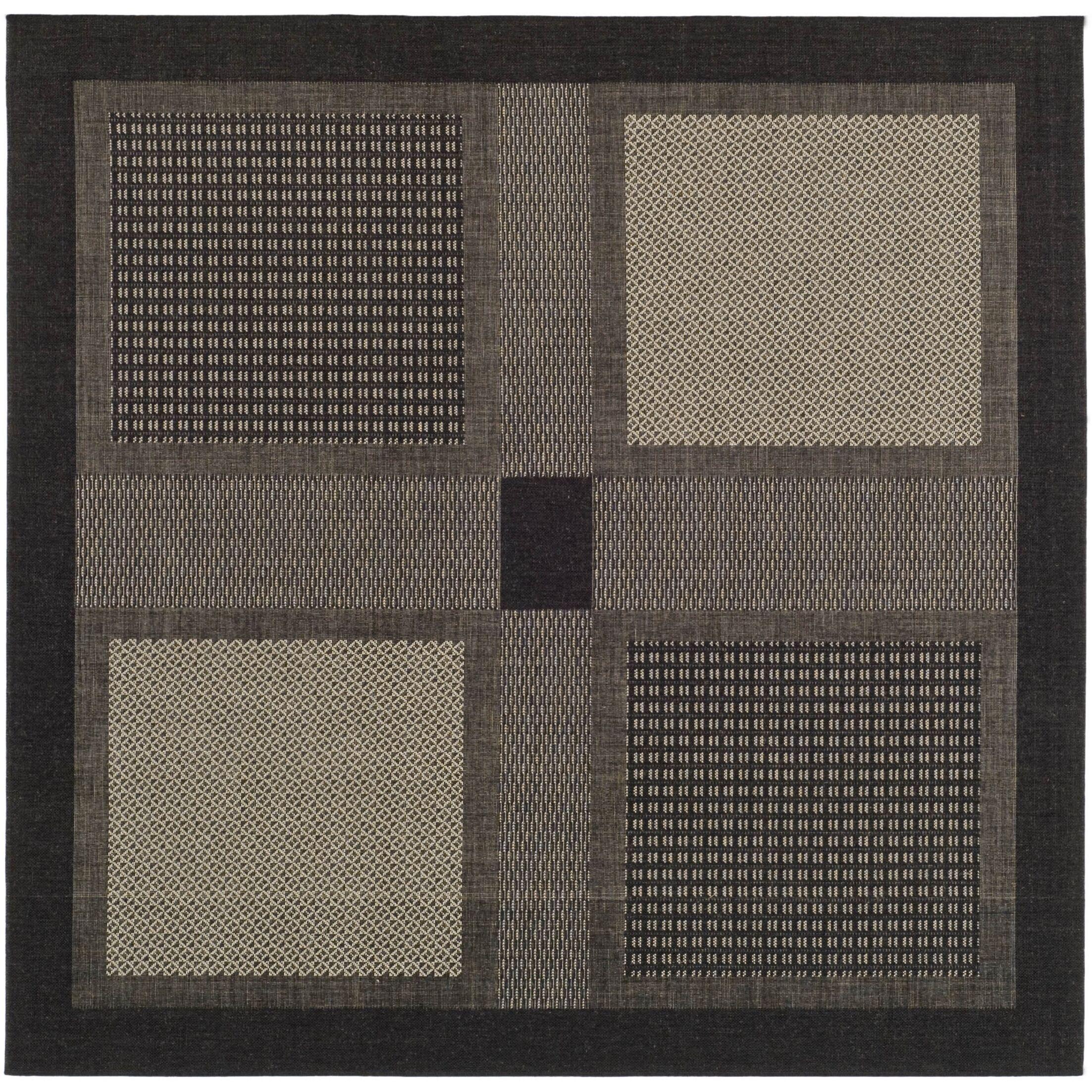 Halvorsen Black/Sand Outdoor Rug Rug Size: Square 7'10