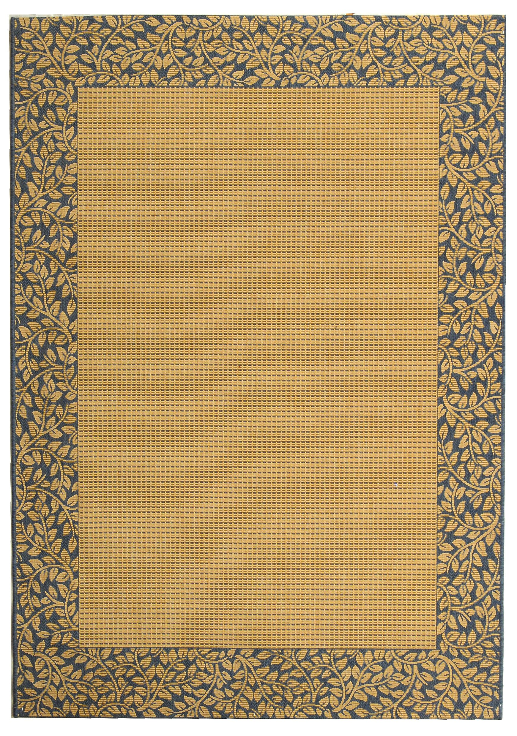 Lippold Brown/Black Outdoor Area Rug Rug Size: Rectangle 4' x 5'7
