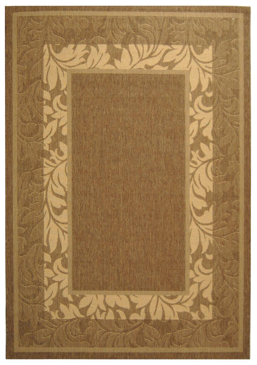 Fenmore Brown/Tan Outdoor Area Rug Rug Size: Rectangle 4' x 5'7