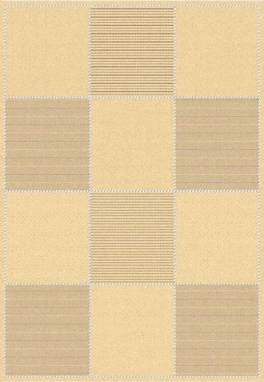 Octavius Natural/Brown Outdoor Rug Rug Size: Round 6'7