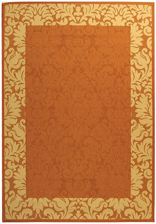 Marland Terracotta/Natural Outdoor Area Rug Rug Size: Rectangle 9' x 12'6