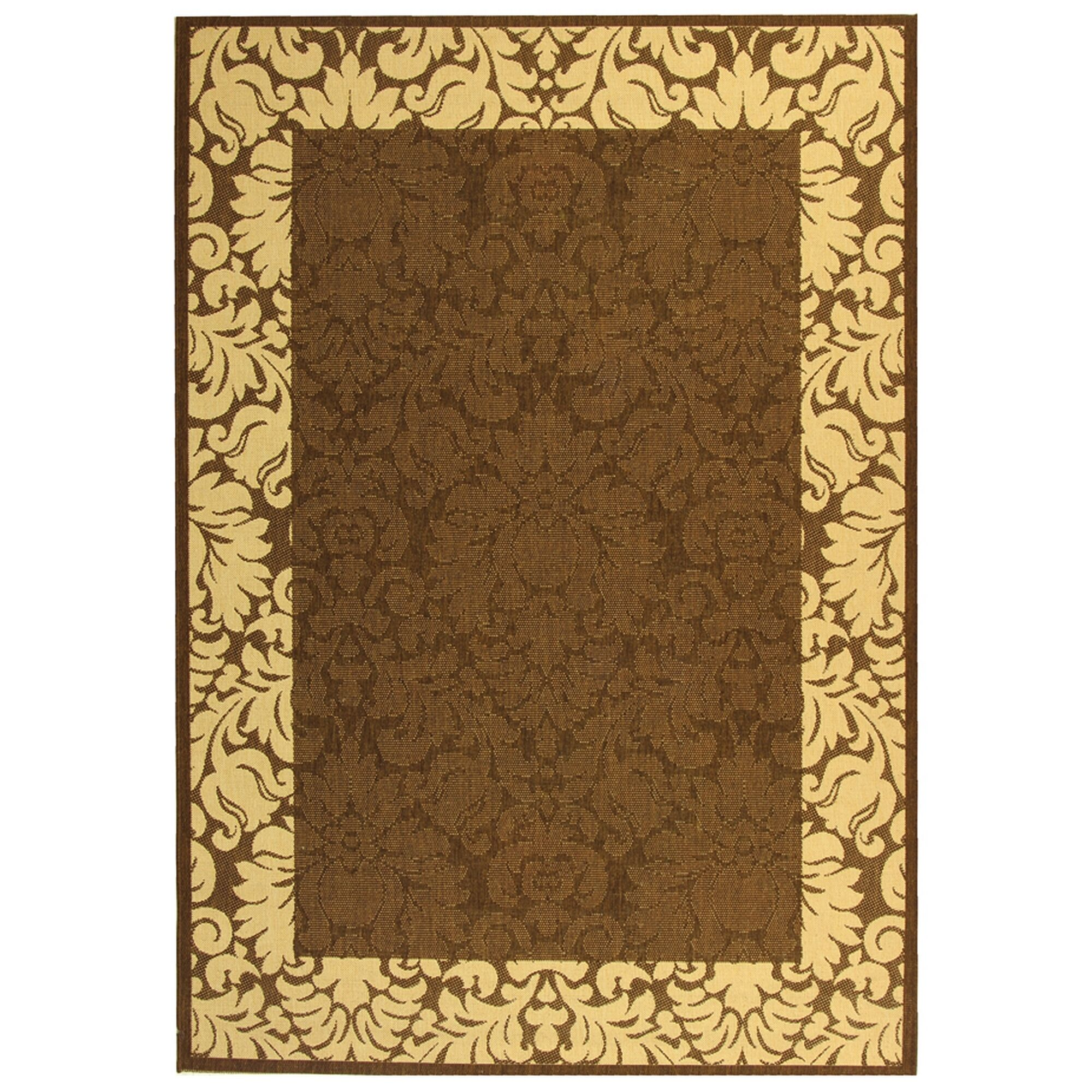 Marland Chocolate/Natural Outdoor Area Rug Rug Size: Rectangle 6'7