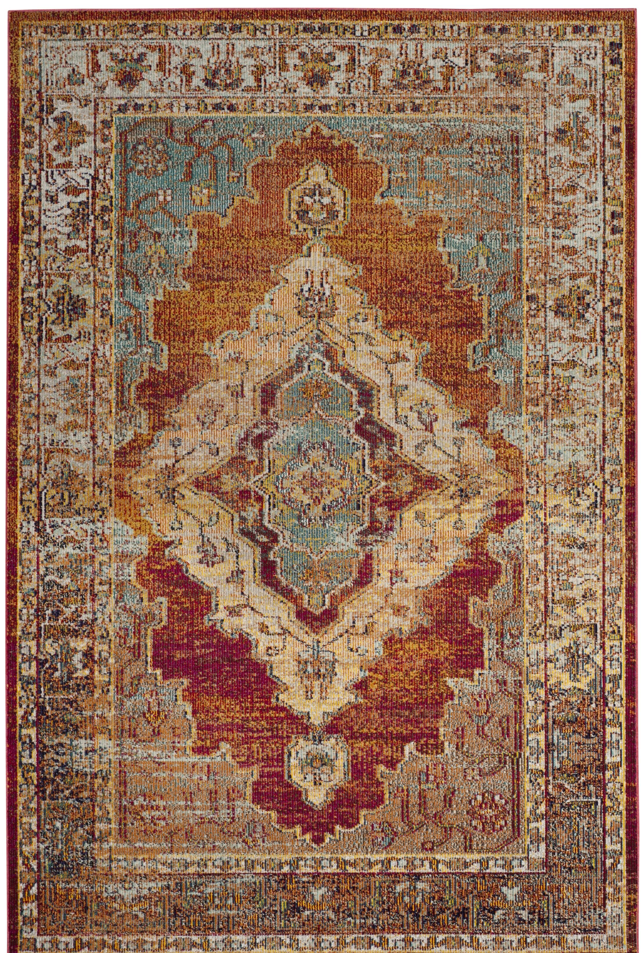 Michiana Orange Area Rug Rug Size: Rectangle 10' x 14'