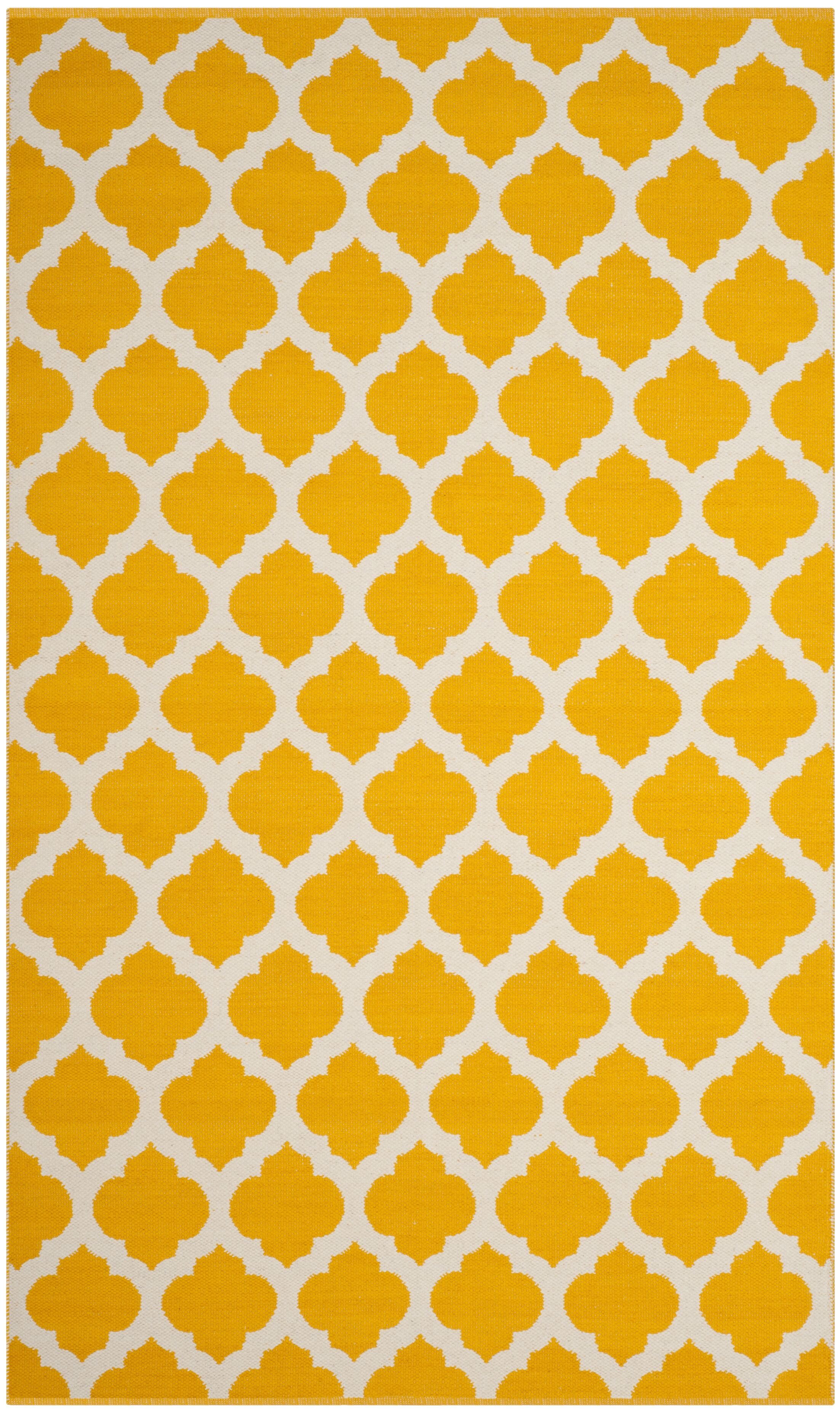 Willow Hand-Woven Yellow/Ivory Area Rug Rug Size: Rectangle 4' x 6'