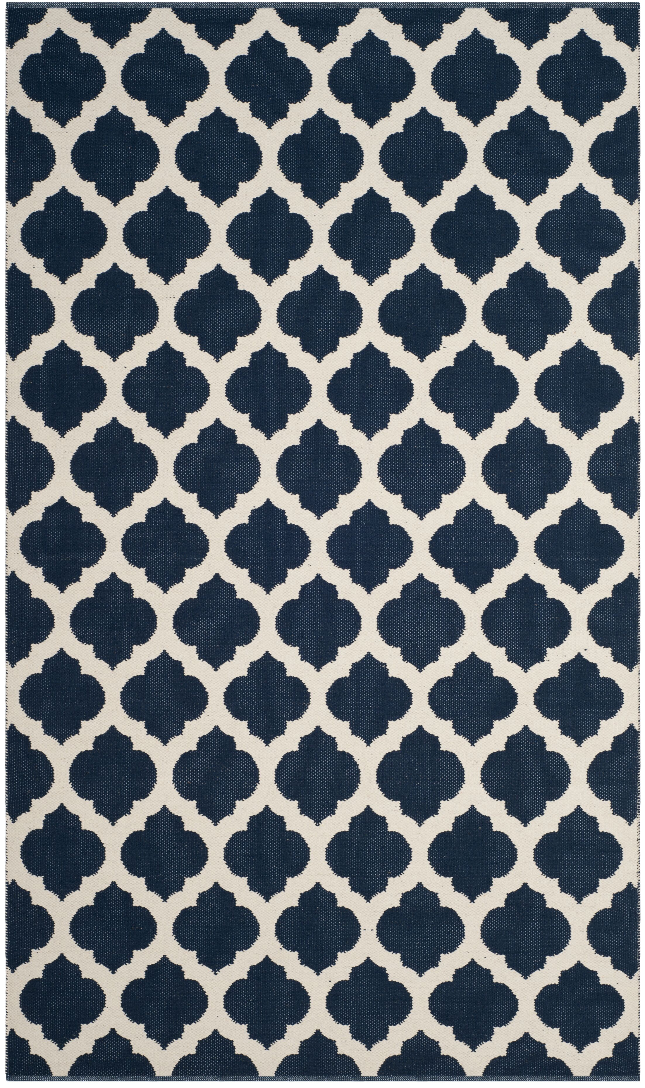 Willow Hand-Woven Navy/Ivory Area Rug Rug Size: Rectangle 4' x 6'