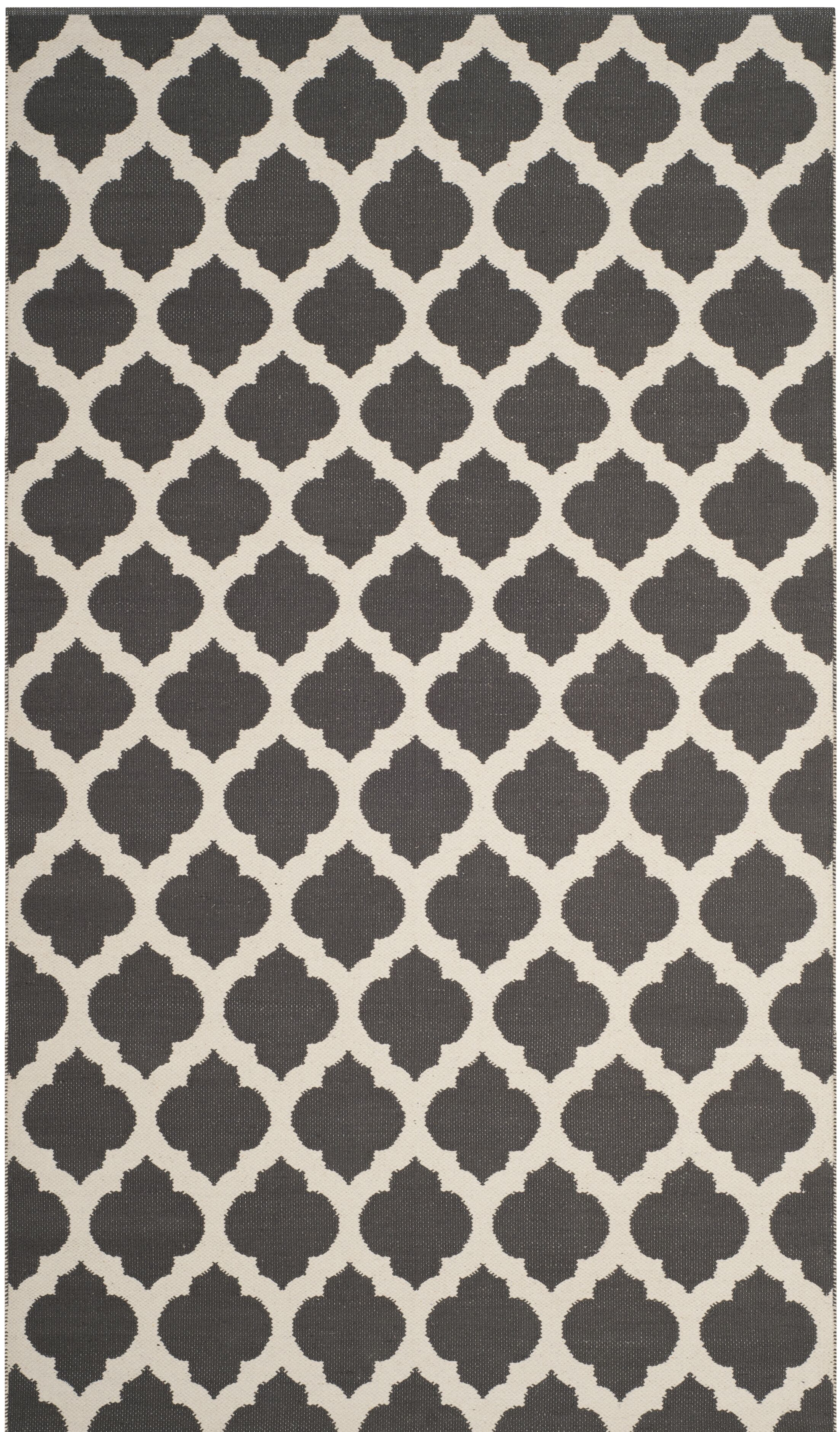 Willow Hand-Woven Dark Gray/Ivory Area Rug Rug Size: Rectangle 4' x 6'