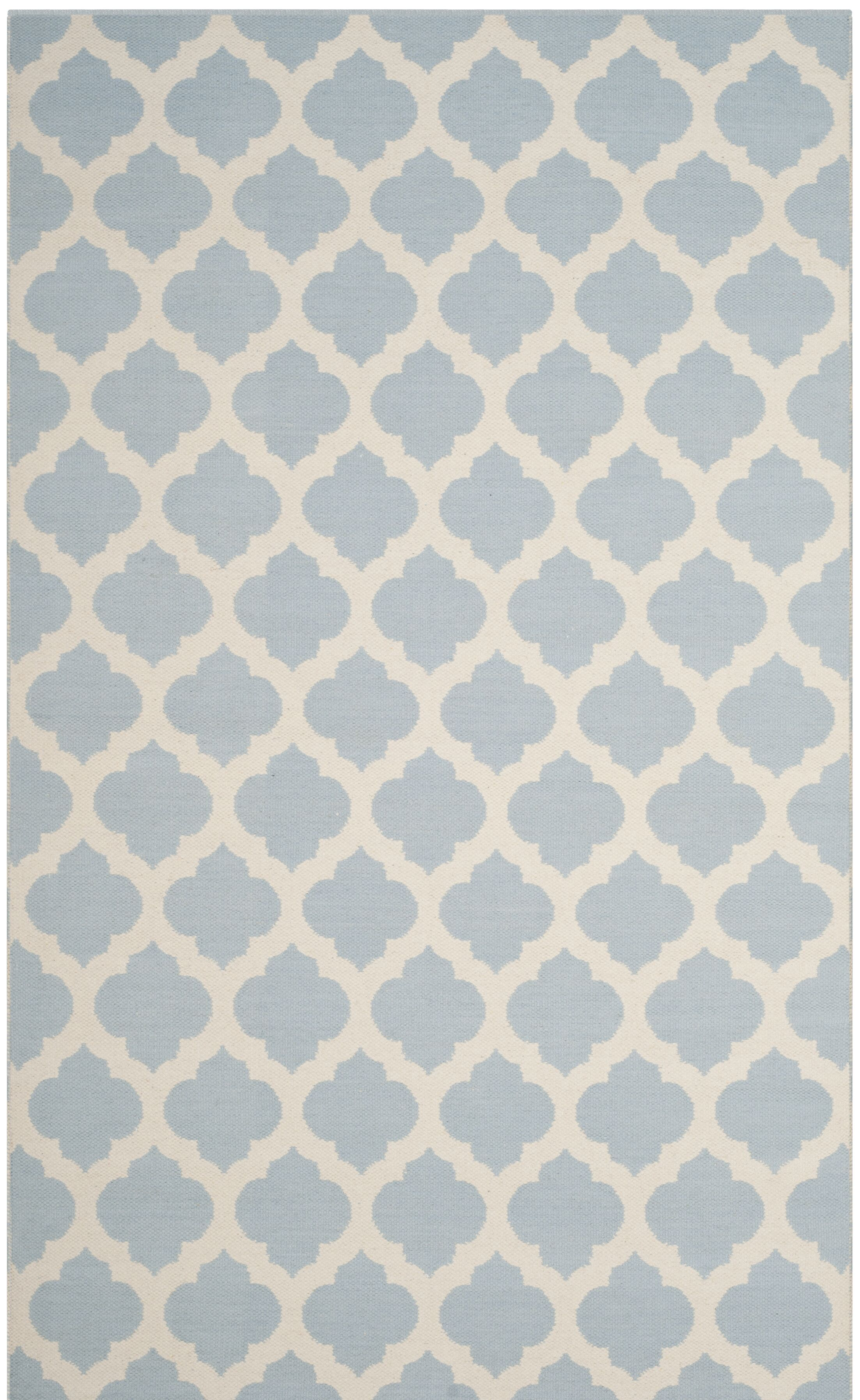 Willow Hand-Woven Light Blue/Ivory Area Rug Rug Size: Square 6'